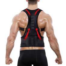 Drop shipping Magnetic Therapy Posture Corrector Brace Supports Belt Shoulder