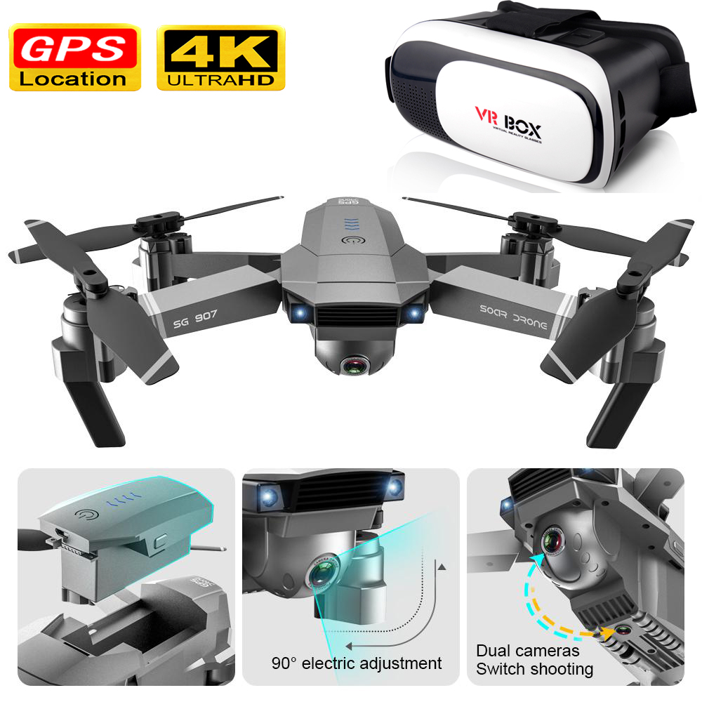 Drone Gps 4k Hd Camera Rc Helicopter Mini Drone With Camera Folding Led Vr Glasses Profesional Brushless 5G Wifi RC 1080p Selfie