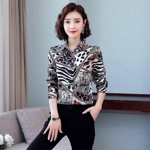 TingYiLi Vintage Printed Blouse Shirt Women Long Sleeve Boho Shirt Spring Autumn Korean Elegant Plus Size Top Female 4