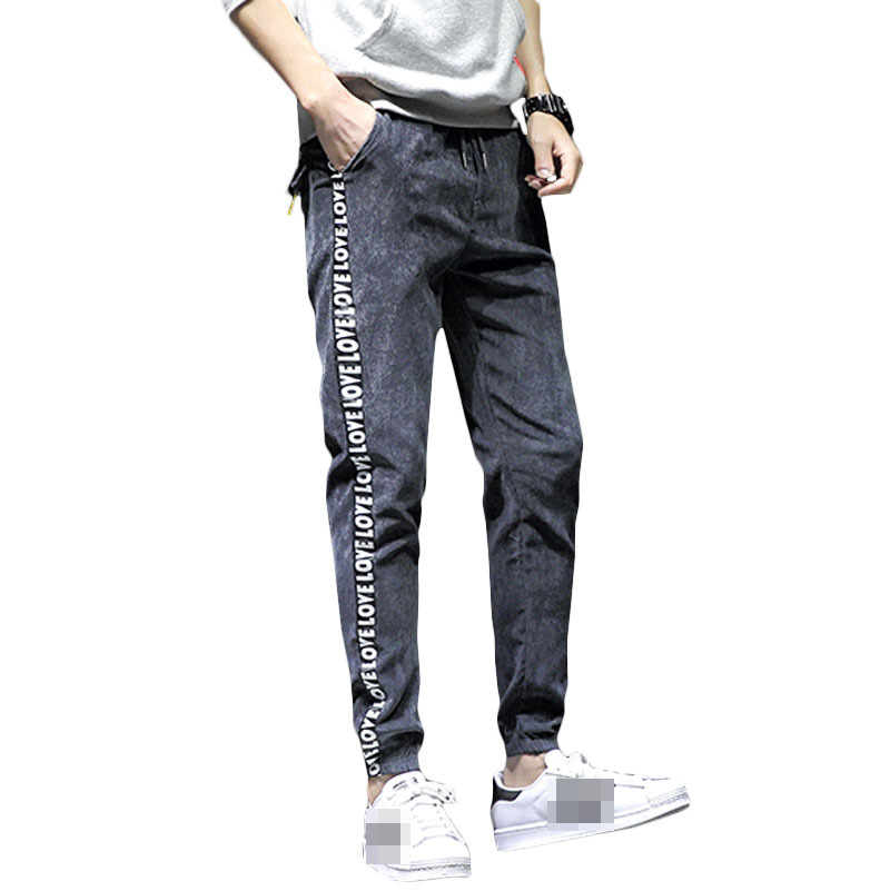 Mens Stretch Jogger Pants with Zipper Pockets Slim Fit Sweatpants Fitness Trousers 2019 New
