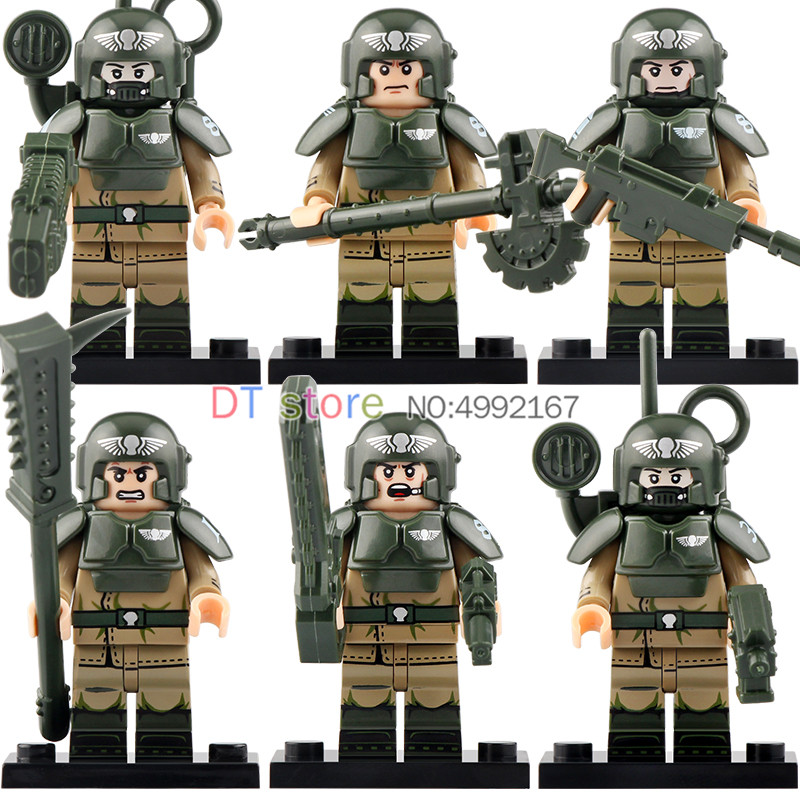 Single Sale Heavily Armed Commander Military Army City Police With Weapons Building Blocks Children Toys KT1037