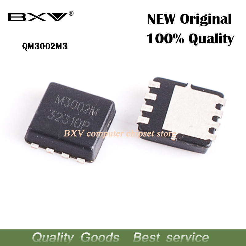 Free Shipping 5pcs QM3002M3 QM3002M M3002M 3mm*3mm MOSFET QFN-8 Original Authentic