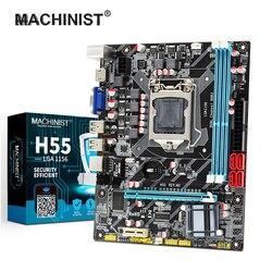 MACHINIST H55 zócalo de la placa base LGA 1156 compatible con DDR3 16G e I3/I5/I7 CPU-Express USB2.0 puertos placa base Tablero Principal