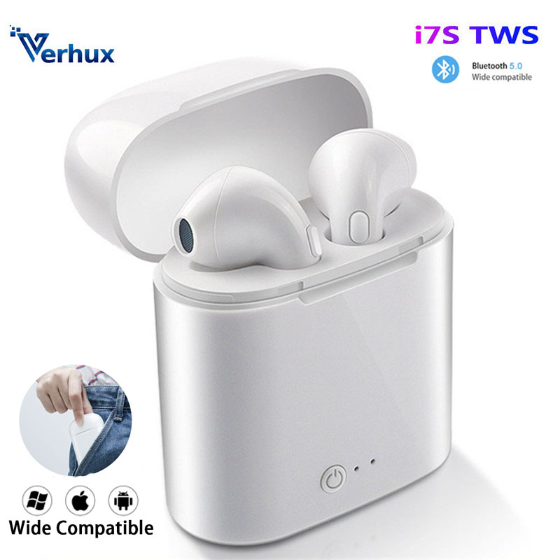 I7s TWS Wireless Earpiece Bluetooth Earphones I7 Sport Earbuds Headset With Mic For Smart Phone  Xiaomi Samsung Huawei LG