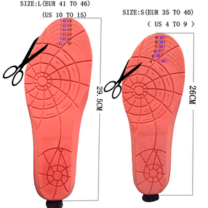 Image 2 - New Wireless Control Electric Heating Thermal Insoles Winter Warm Velvet 1800mAh Increase Heated Insoles for Men Women Shoe Pads