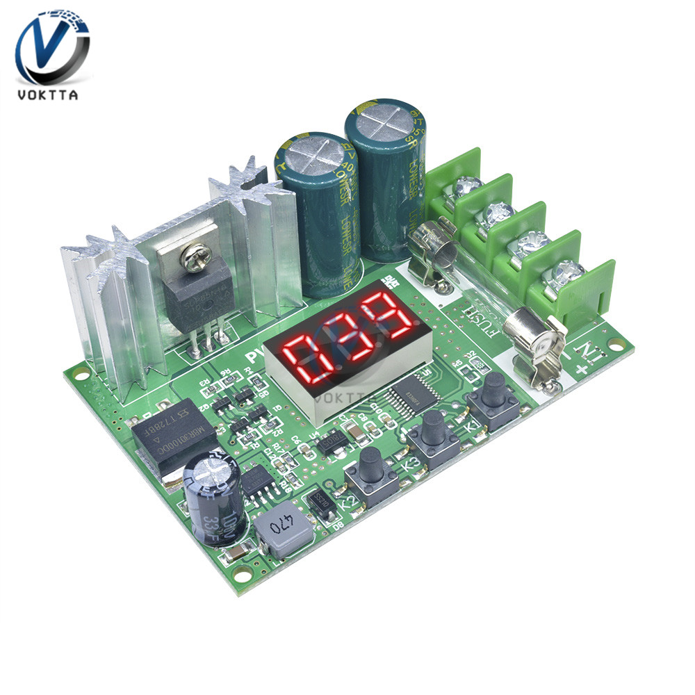 DC 12V-60V Motor Speed Controller Red LED Digital Display 10A 600W PWM Speed Regulator Module Pulse Width Adjustable Governor image
