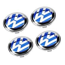 4 шт./компл. СИНИЙ 65 мм 3B7 601 171 Центр колеса Кепки Логотип Крышка Ступицы Эмблемы для VW Volkswagen Jetta MK5 Golf Passat