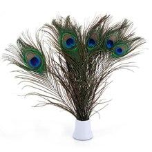 Высококачественные перья павлина для украшения, 20 шт./лот, 25-32 см, натуральные перья павлина, украшения «сделай сам», аксессуары для рукодели...