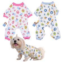 Милая хлопковая собачья Пижама с пони удобная для собаки