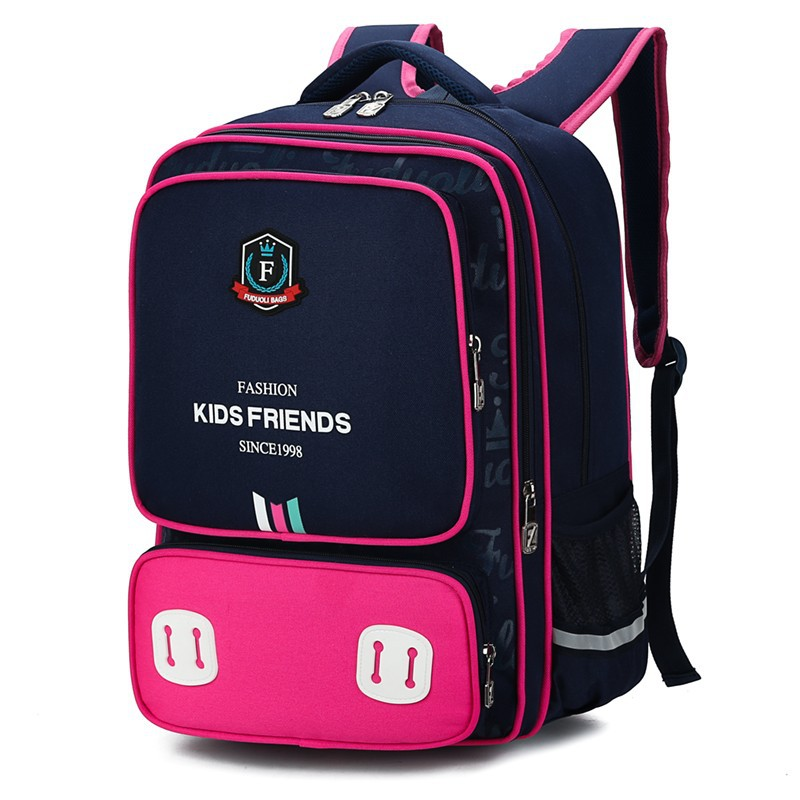 Jiang Hao British Style Schoolbag For Elementary School Students Men And Women 3-5 Grade Europe And America Backpack Foreign Tra