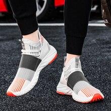 Çorap ayakkabı örgü ayakkabı yeni gelenler rahat düz mokasen moda Tenis Masculino Adulto nefes erkekler Sneakers bağcıksız ayakkabı