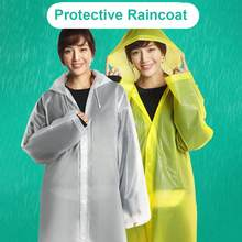 Fashion EVA Women Man Raincoat Thickened Waterproof Rain Poncho Coat Adult Clear Transparent Camping Hoodie Rainwear Suit(China)