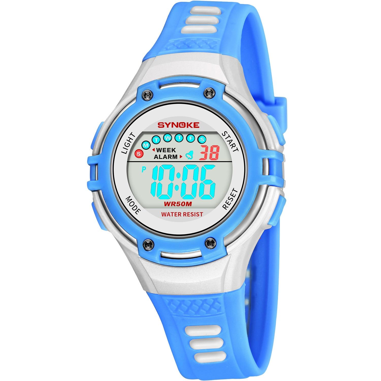 Дети% 27s Часы Водонепроницаемость Шок LED Будильник Спорт Часы Для Детей Мальчик Девочка Цифровые Часы Электронные Часы Los Nios Miran Reloj