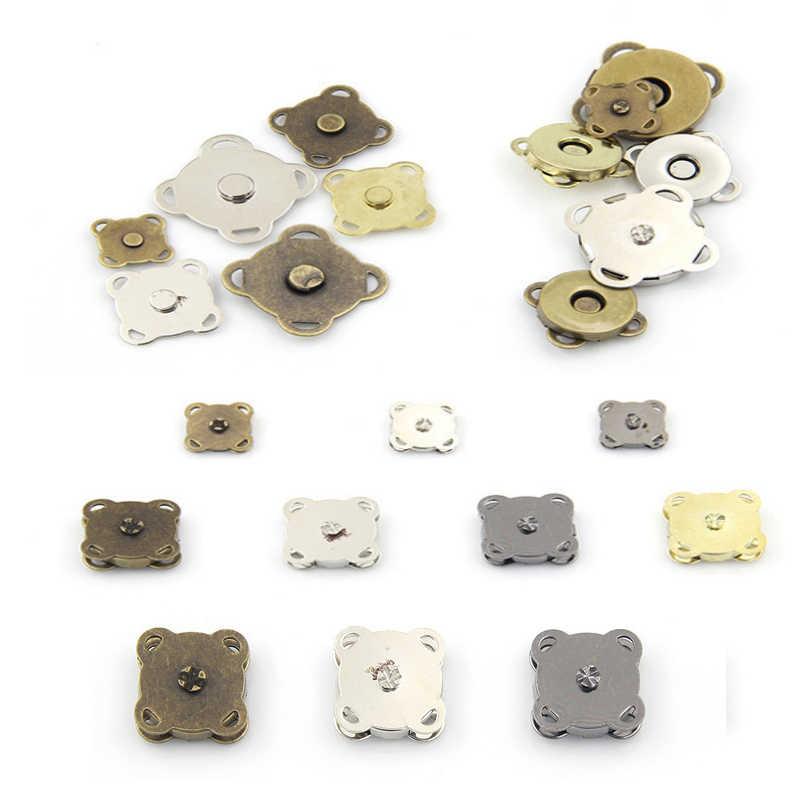 Hoge kwaliteit naaien op metalen magnetische Snaps knoppen voor overjas tas kledingstuk accessoires scrapbooking DIY craft gift slivery Wh