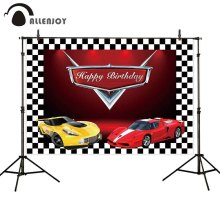 Allenjoy photophone backdrops Birthday racing car lattice children party backgrounds photography studio photocall photobooth
