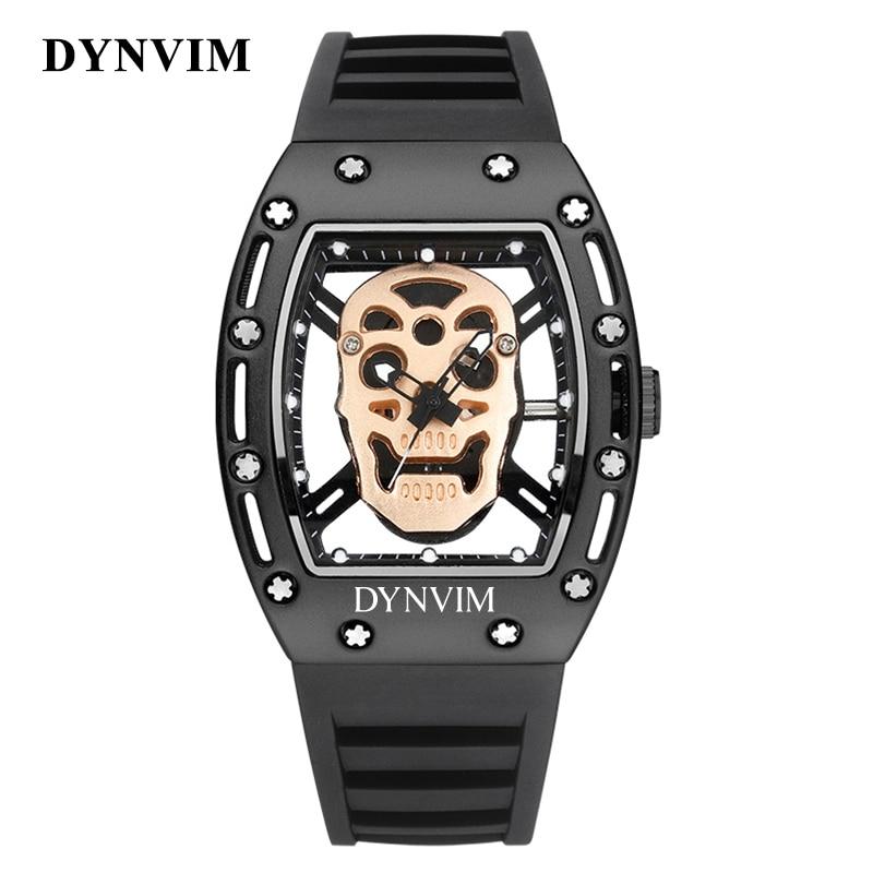 2019 кварцевые часы с черепом мужские спортивные водонепроницаемые наручные часы мужские 3 цвета светящиеся часы