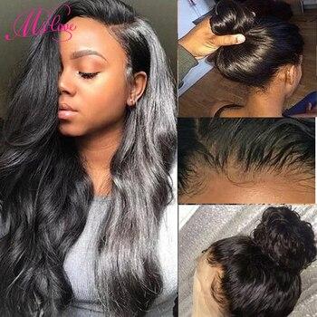 Парик со шнуровкой спереди 360, волнистые волосы для детей, плотность 130%, парики из человеческих волос спереди, натуральный бразильский парик...