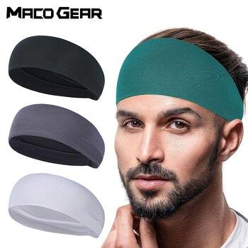 Banda para el sudor deportiva para hombre, banda para la cabeza Versión amplia, transpirable, suave, absorbente, para Fitness, Yoga, gimnasio y sudor