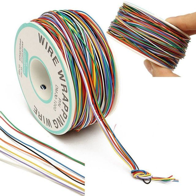 250M 8-Wire Colored Insulated P/N B-30-1000 30AWG Wire Wrapping Cable Wrap