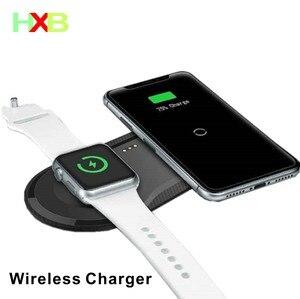 Image 1 - Wireless Charging Pad USB Quick Handy Uhr Dock Qi Drahtlose Ladegerät Für iphone 11 X XS Apple Uhr iwacth samsung Xiaomi