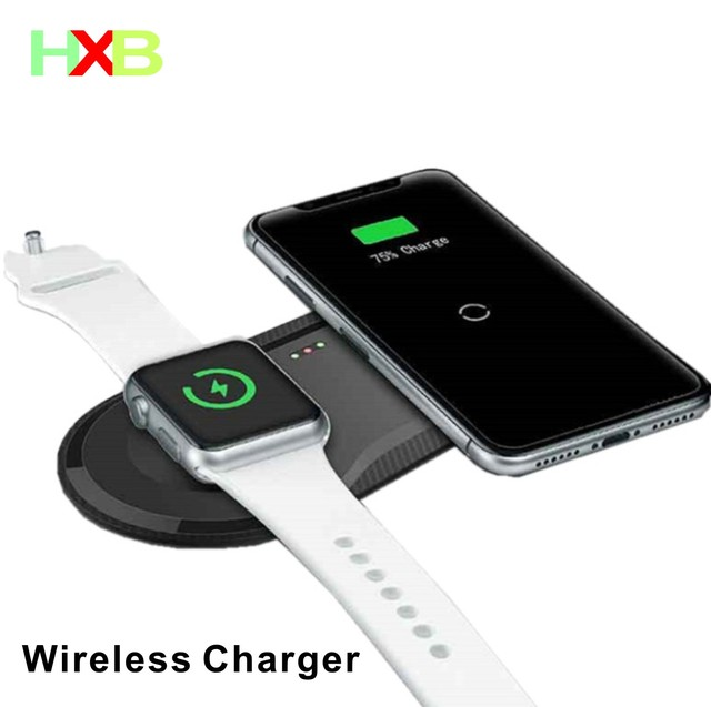 Wireless Charging Pad USB Quick Handy Uhr Dock Qi Drahtlose Ladegerät Für iphone 11 X XS Apple Uhr iwacth samsung Xiaomi