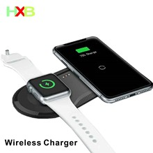 Wireless Charging Pad USB Quick Mobile Phone Watch Dock Qi Wireless Charger For iphone 11 X XS Apple Watch iwacth Samsung Xiaomi