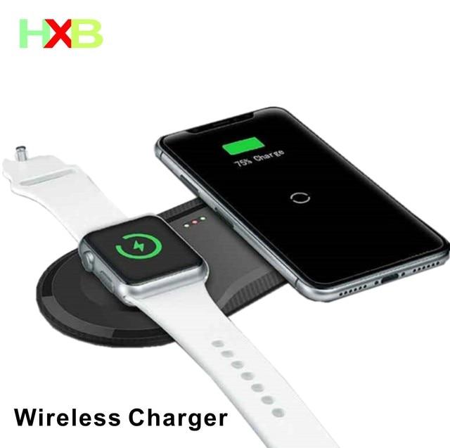 ワイヤレス充電パッドusbクイック携帯電話腕時計ドックチーワイヤレス充電器iphone 11 x xs時計iwacthサムスンxiaomi