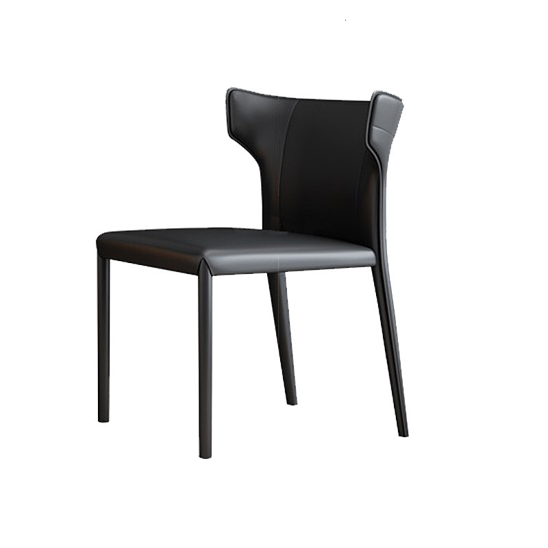 Dining Chair Simple Italian Minimalist Leather Chair North European Small Family Chair Designer Hong Kong Style Restaurant Hotel