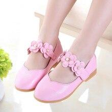 ربيع الخريف طفلة أحذية أطفال أحذية لفتاة الأطفال الزهور الأميرة أحذية chaussure fille الأحمر الوردي زهرة بيضاء 2 13years