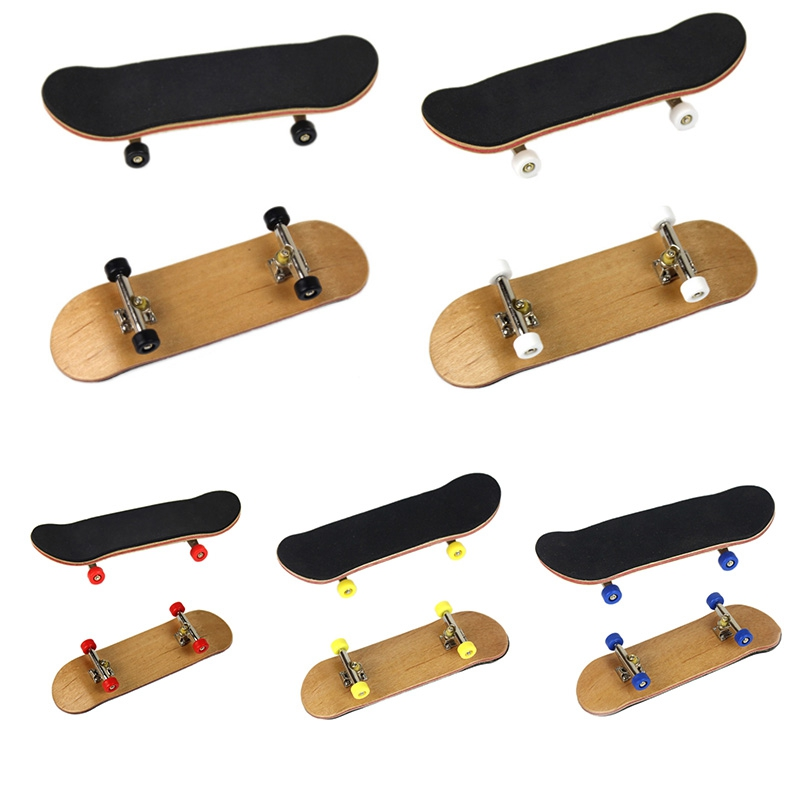 Wooden Fingerboard Professional Mini Finger SkateBoards Basic Toys For Boys Girls With Bearings Wheel Foam Tape Set Kids Toys Y1