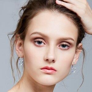 Image 3 - MALANDA New 925 Sterling Silver Long Drop Earrings Crystal From Swarovski Dangle Earrings For Women Luxury Personality Jewelry