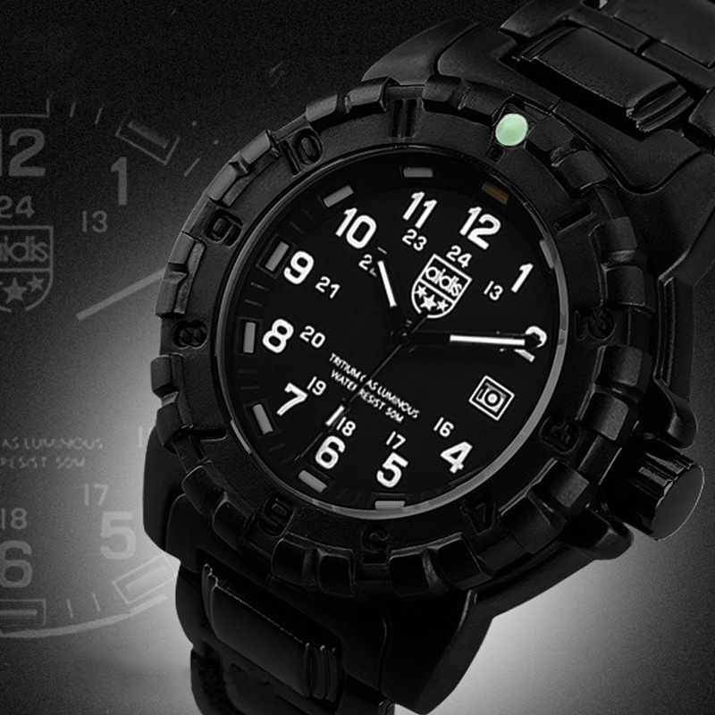 Men's Watch Outdoor Sports Diver Band Breathless Military Luminous Multifunctional Waterproof Men's Quartz Watch