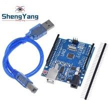 1 шт./лот высокое качество UNO R3 MEGA328P CH340G для Arduino совместим с USB кабелем