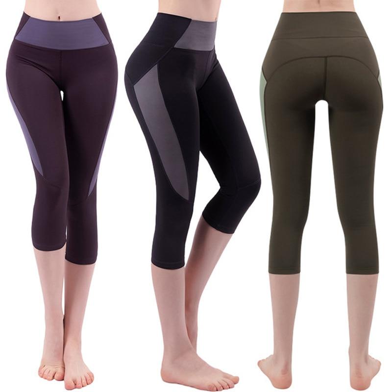 Capri Leggings Woman Sports Fitness Pants High Waisted Stretch Compression Short Leggins 4/3 Summer Breeches Plus Size XXL