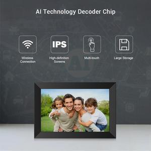 A10 Wi-Fi 10,1 дюймовая цифровая фоторамка 1280x800 IPS сенсорный экран 16 Гб умная фоторамка управление через приложение со съемным держателем