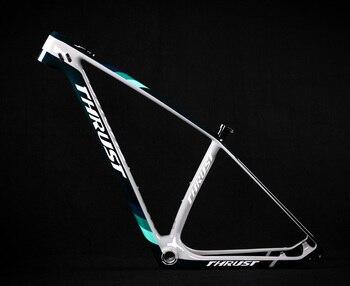 цена на THRUST 2020 Carbon Frame 29er 15 17 19 Carbon mtb Frame 29er BSA BB30 Bike Bicycle Frame Max Load 250kg 2 Year Warranty 12 Color