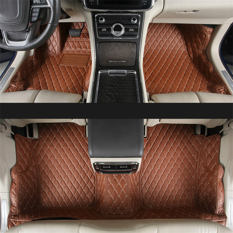 lsrtw2017 luxury interior leather car interior floor mat for lincoln Continental 2016 2017 2018 2019 2020 accessories carpet - 2