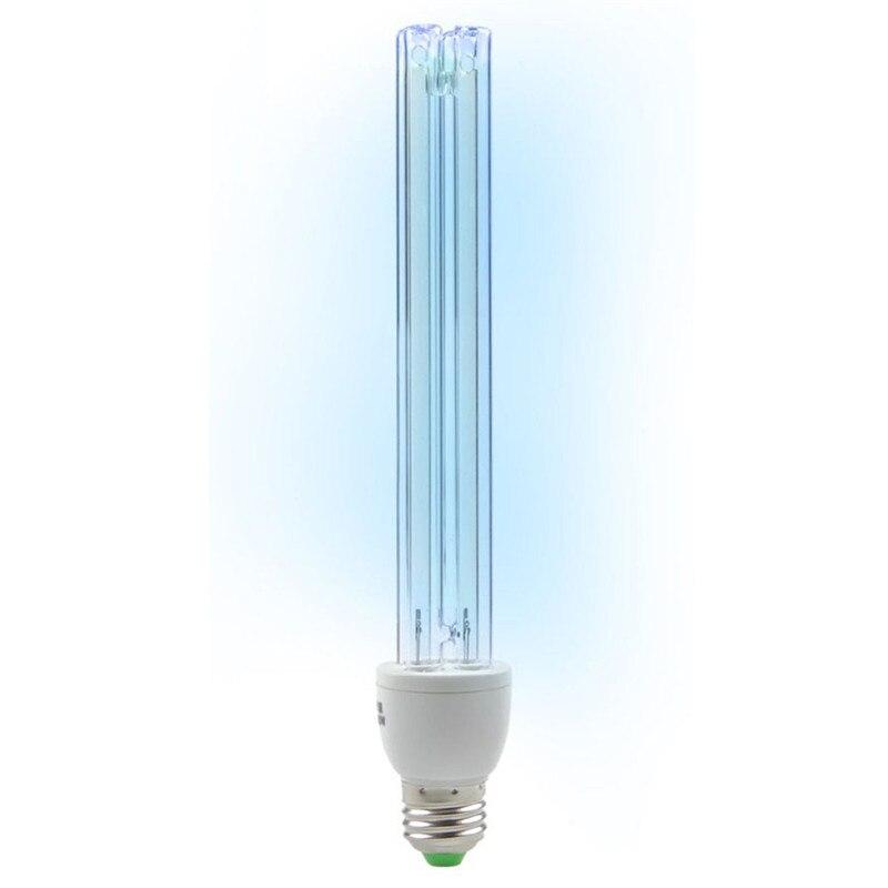 E27 UVC Ultraviolet UV Light หลอดหลอดไฟ 20W ฆ่าเชื้อโรคโคมไฟโอโซนฆ่าเชื้อไรไฟฆ่าเชื้อโรคหลอดไฟ AC220V 20W