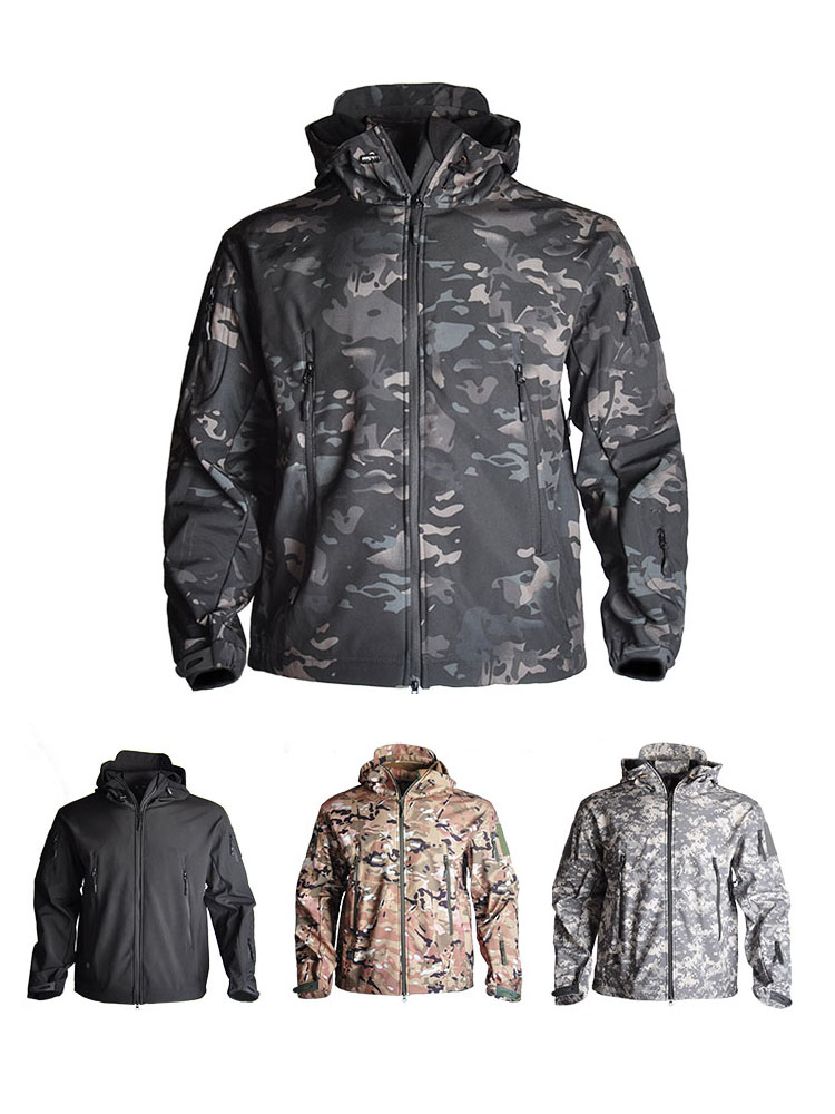 Airsoft Jacket Hunt Clothes WILD Military Army Waterproof Camouflage Winter Men HAN