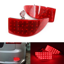 Niscarda 2 Pcs Led Rear Bumper Reflector Licht Rode Auto Drive Brake Fog Trim Tail Lamp Voor Lexus IS250 IS300 IS350 GSE20 2006-2013(China)