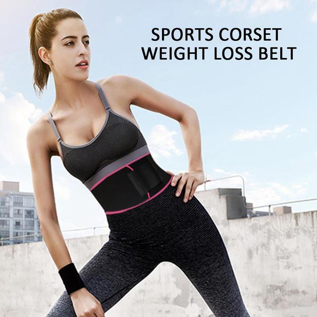 Professional Rubber Waist Protection Sport Goods Sweat Belt Sport Belt Fitness Centre Gym Marvellous Waist Trimmer Yoga Outdoor 4