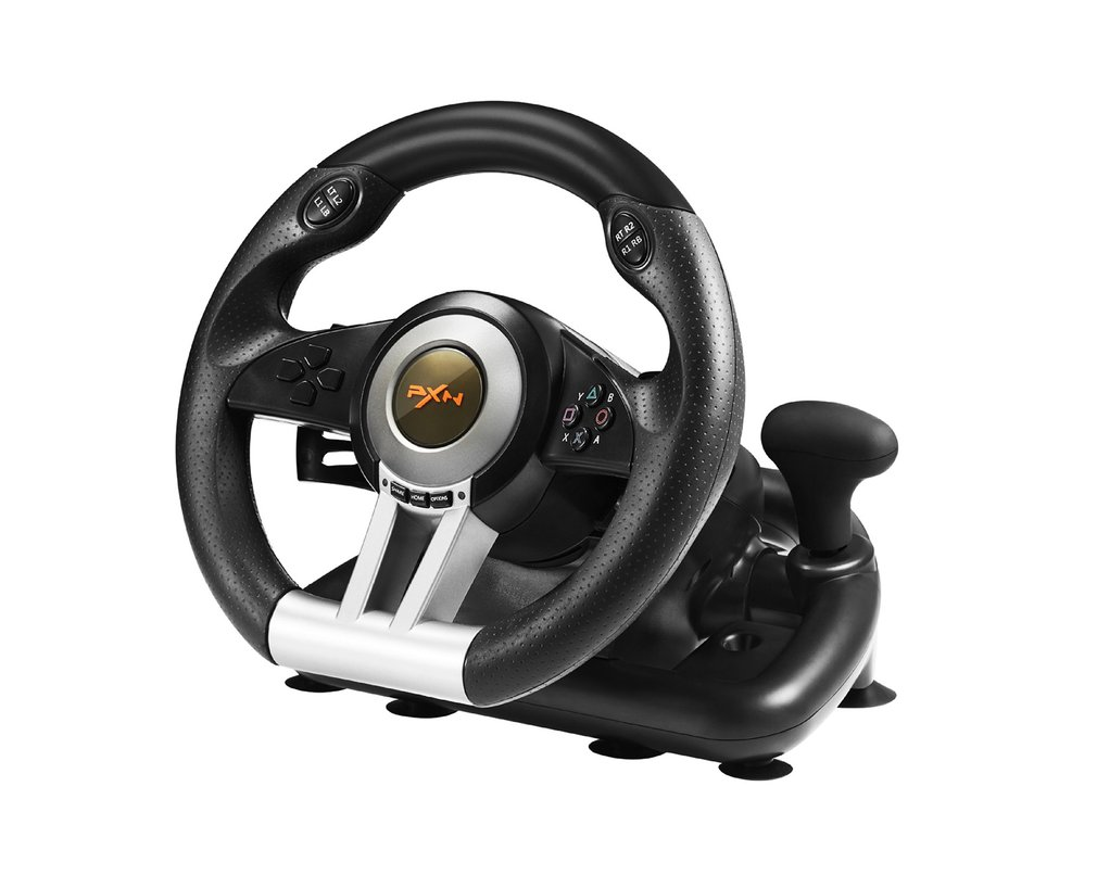 Racing Game Pad 180 Degree Steering Wheel Vibration Joysticks With Foldable Pedal For PC PS3 PS4 For One Dual mode image