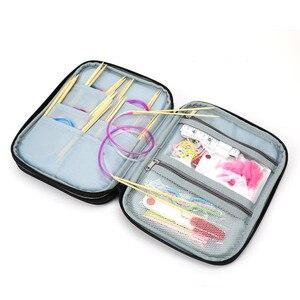 Image 4 - Koknit vazio tricô agulhas caso organizador de armazenamento de viagem saco de armazenamento para agulhas de tricô circular e outros acessórios