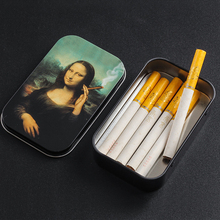 Paper-Holder Gadgets Tin-Plate-Case Tobacco-Humidor Rolling Cigarettes-Capacity Smoking