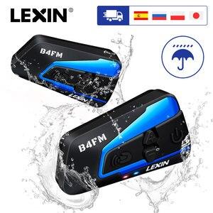 Image 1 - LEXIN мотоцикл Bluetooth беспроводной шлем гарнитура интерком для 1 4riders с шумоподавлением и FM,GPS,MP3 музыка