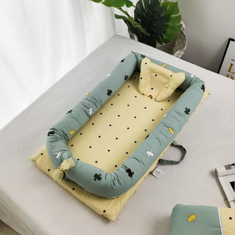 Baby Bed Cotton Travel Nest Crib Outdoor Portable Crib Newborn Sleeping Baby Basket  Protection Pad  YCQ002