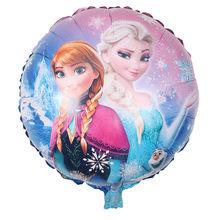 Frozen2 Princesa Elsa Disney Tema 18 polegadas Suprimentos Balões Foil Birthday Party Balloons Decorações Do Chuveiro de Bebê Menina 1 pçs/lote