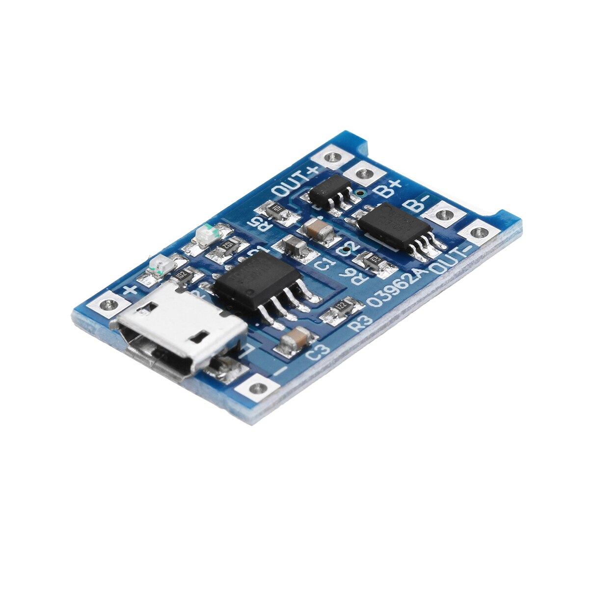 10 pièces TP4056 Micro USB 5V 1A 18650 batterie au Lithium charge carte de Protection TE585 Lipo chargeur Module