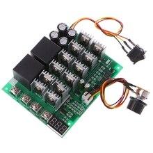 10 55 в пост. Тока, 12 В, 24 В, 36 В, 48 В, 55 в, 100 А, контроллер скорости двигателя PWM HHO RC, переключатель обратного управления с светодиодный дисплеем
