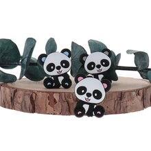 50 pcs panda silicone animal bebê mordedor grânulos unicórnio bpa livre urso roedor recém-nascidos mastigando chupeta corrente acessórios dente presente